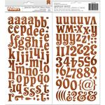 Chipboard Alphabet Stickers - Yuletide Carol - BoBunny