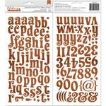 Chipboard Alphabet Stickers - Yuletide Carol - BoBunny