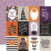3 X 4 Journaling Card Paper - Bewitched - Echo Park