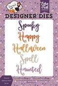 Haunted Halloween Word Die Set - Echo Park - PRE ORDER