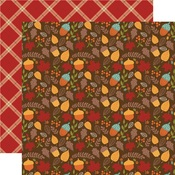 Autumn Acorns Paper - Celebrate Autumn - Echo Park