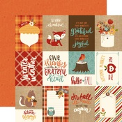 3 x 4 Journaling Card Paper - Celebrate Autumn - Echo Park