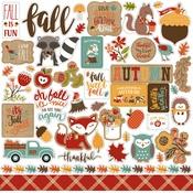 Celebrate Autumn Element Sticker Sheet - Echo Park