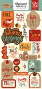 Celebrate Autumn Chipboard Phrases - Echo Park - PRE ORDER