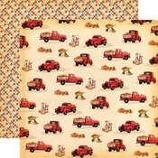 Pumpkin Trucks Paper - Fall Break - Carta Bella
