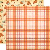 Pumpkin Plaid Paper - Fall Break - Carta Bella