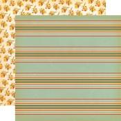 Scarecrow Stripe Paper - Fall Break - Carta Bella