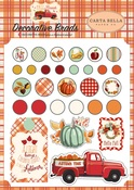 Fall Break Decorative Brads - Carta Bella