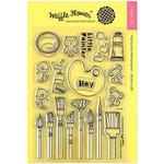 Little Painters Clear Stamp - Waffle Flower Crafts