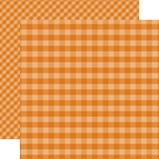 Orange Gingham Paper - Gingham - Echo Park