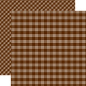 Brown Gingham Paper - Gingham - Echo Park