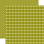 Green Gingham Paper - Gingham - Echo Park