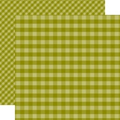 Green Gingham Paper - Gingham - Echo Park