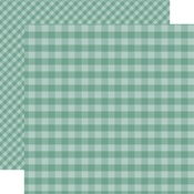 Teal Gingham Paper - Gingham - Echo Park