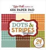 Autumn Gingham 6x6 Paper Pad - Echo Park