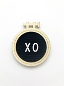 XO Letterboard Embellishment - Magnolia Moments - Fancy Pants