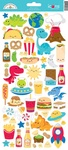 So Much Pun Icon Sticker Sheet - Doodlebug - PRE ORDER