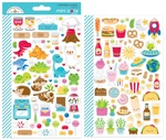So Much Pun Mini Icon Stickers - Doodlebug - PRE ORDER