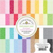 Floral-Graph Rainbow Petite Prints 6x6 Paper Pad - Doodlebug