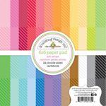 Dot-Stripe Rainbow Petite Prints 6x6 Paper Pad - Doodlebug