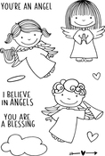 "Angels - Jane's Doodles Clear Stamps 4""X6"""