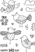 "Free As A Bird - Jane's Doodles Clear Stamps 4""X6"""