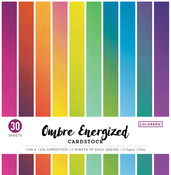 "Ombre Energized - Colorbok 78lb Single-Sided Printed Cardstock 12""X12"" 30/Pkg"