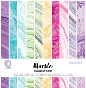 "Marble - Colorbok 78lb Single-Sided Printed Cardstock 12""X12"" 30/Pkg"