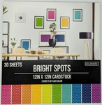 """Bright Spots - Colorbok 78lb Single-Sided Printed Cardstock 12""""X12"""" 30/Pkg"""
