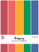 """Primary, 5 Colors/10 Each - Colorbok 78lb Smooth Cardstock 8.5""""X11"""" 50/Pkg"""