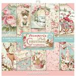 Pink Christmas Stamperia Double-Sided Paper Pad