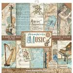 Music Stamperia Double-Sided Paper Pad