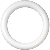 "White Extruded 12"" - Extruded Styrofoam Wreath"