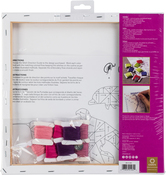 """Hummingbird Stamped On Stretched Canvas - Anchor Big Stitch Art Embroidery Kit 12""""X12"""""""