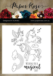 Unicorn Magic - Paper Rose Clear Stamps