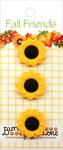 Sunflowers - Buttons Galore Fall Buttons 3/Pkg