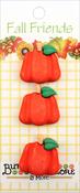 Pumpkins - Buttons Galore Fall Buttons 3/Pkg