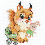 "Playing House (10 Count) - RIOLIS Counted Cross Stitch Kit 6""X6"""