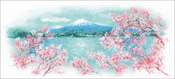 "Sakura Fuji (14 Count) - RIOLIS Counted Cross Stitch Kit 21.75""X9.75"""