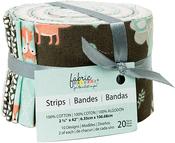 "Little Forest 10 Designs/2 Each - Fabric Palette Jellies 2.5""X42"" 20/Pkg"