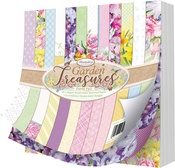 "Garden Treasures, 12 Designs/4 Each - Hunkydory Double-Sided Paper Pad 8""X8"" 48/Pkg"