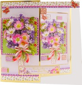 Patchwork Posy - Hunkydory Floral Favorites A4 Decoupage Set