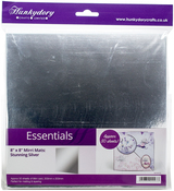"Silver - Hunkydory Mirri Super-Reflective 8""X8"" Cardstock Mats 50/Pkg"