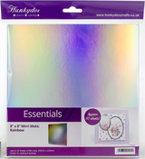 "Rainbow Holographic - Hunkydory Mirri Super-Reflective 8""X8"" Cardstock Mats 50/Pkg"