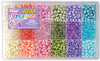 Pastel - Bead Extravaganza Bead Box Kit 19.75oz Beautiful beads in a multitude of colors. Whether you plan on using them for hair, jewelry, adornments on clothing, lamp shades or curtains they will surely brighten up your world. This 11x7x1.75 inch package contains approximately 2300 plastic pony beads. There are six colors (purple, blue, green, yellow, orange, and pink) and each color has three different styles (opaque pearl, opaque pastel, and translucent faceted). WARNING: Choking Hazard. Not suitable for children under 3 years. Made in USA.
