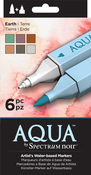Earth - Spectrum Noir Aqua Markers 6/Pkg