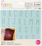 "ABC - Fabric Creations Adhesive Stencil 6""X6"""
