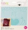 "Mermaid - Fabric Creations Adhesive Stencil 6""X6"""