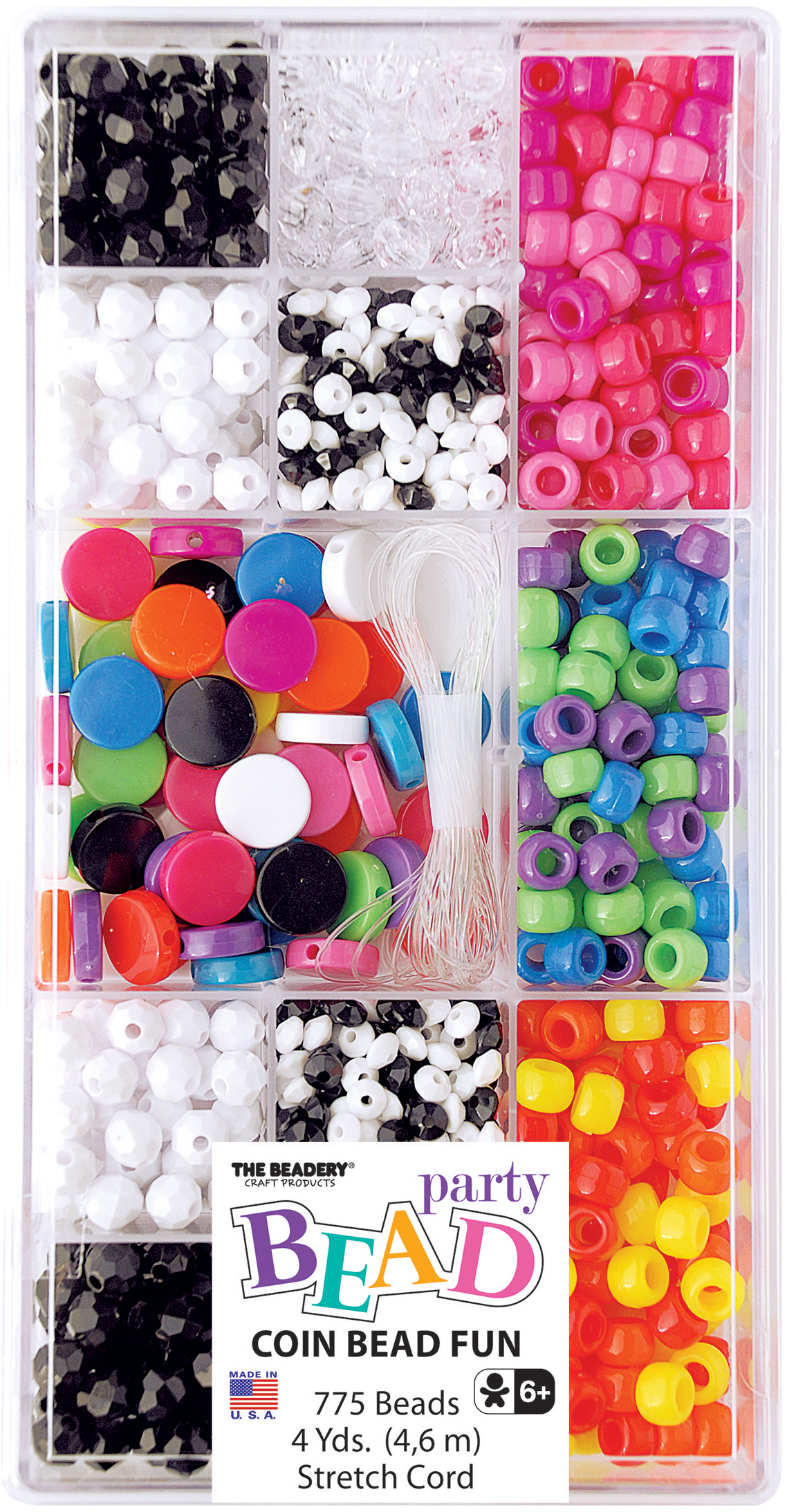 Opaque Coin - Party Bead Box Kit