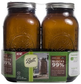 1/2 Gallon Elite Color Series Amber 64oz - Ball(R) Wide Mouth Canning Jars 2/Pkg